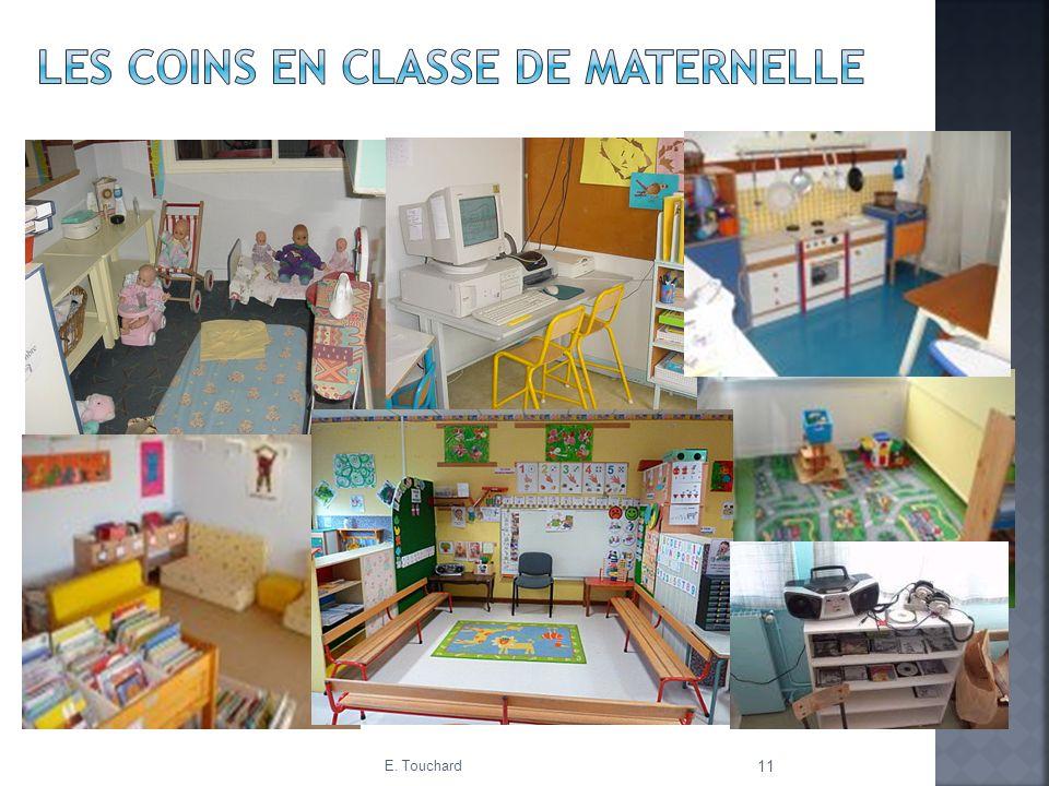 Les coins en classe de maternelle
