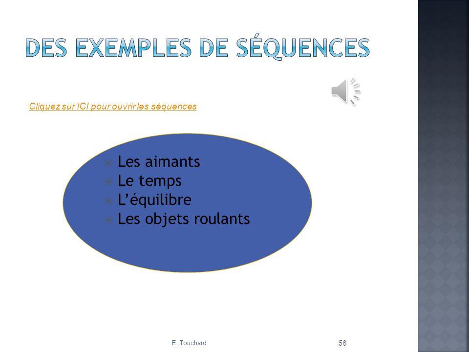 Des exemples de séquences