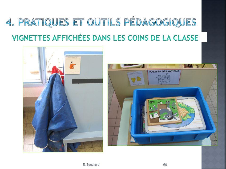 Vignettes affichées dans les coins de la classe