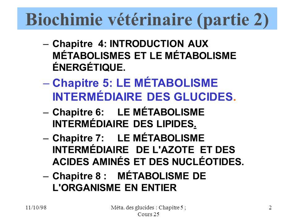 Biochimie vétérinaire (partie 2)