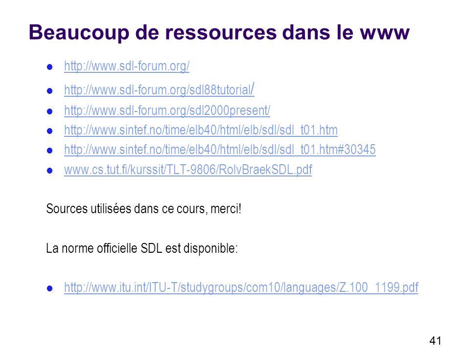 Beaucoup de ressources dans le www