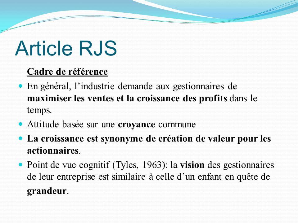 Article RJS Cadre de référence