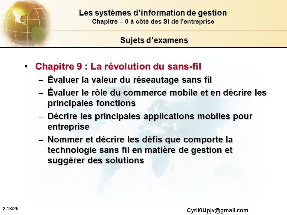 Chapitre 9 : La révolution du sans-fil