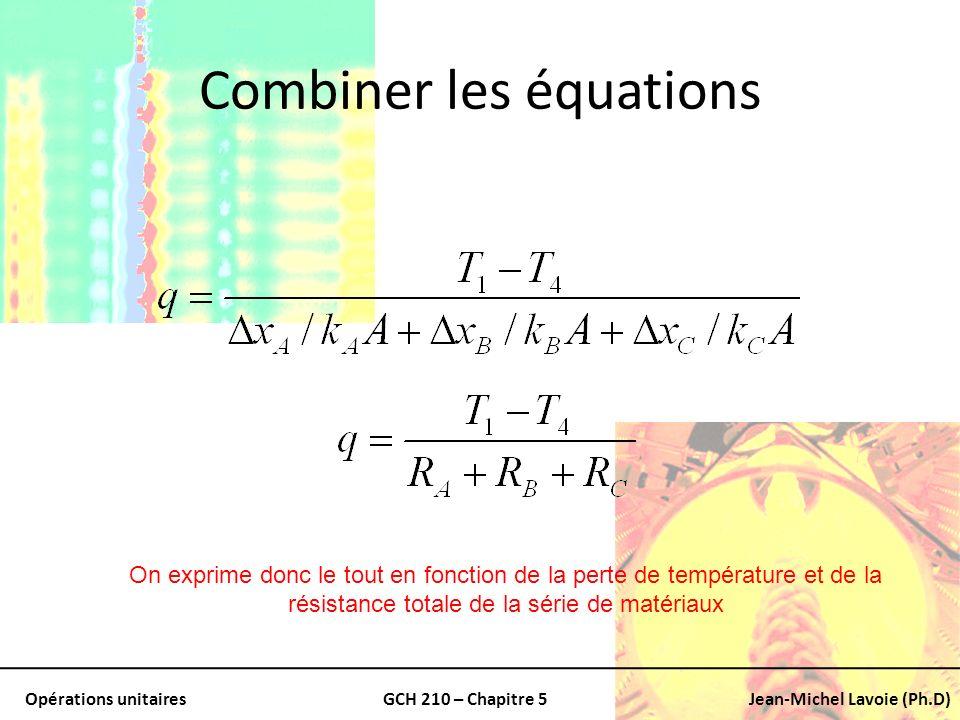 Combiner les équations