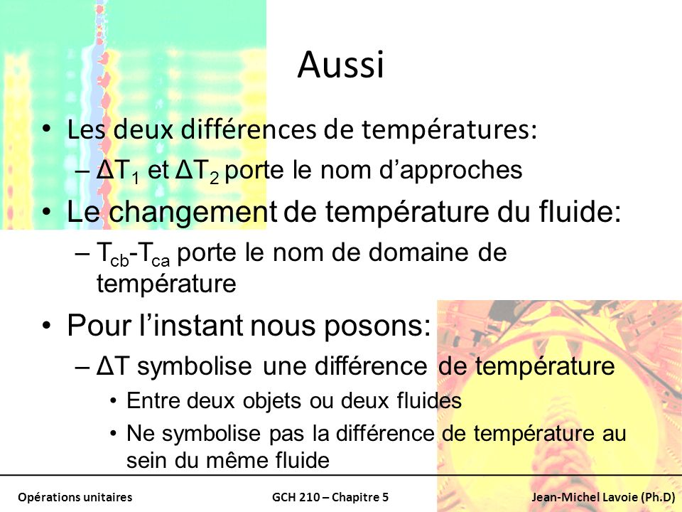 Aussi Les deux différences de températures:
