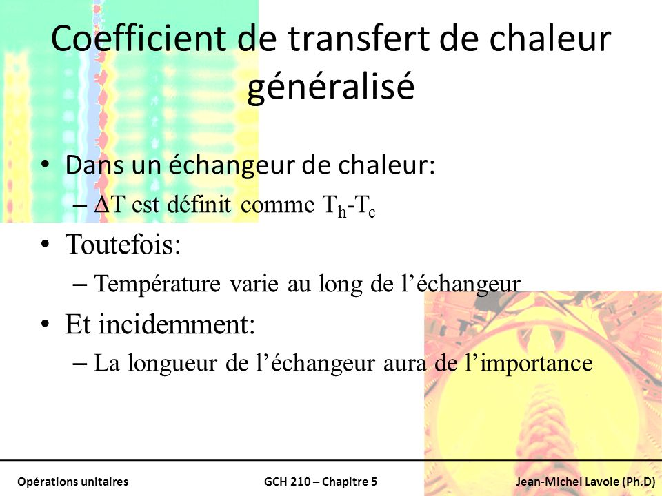 Coefficient de transfert de chaleur généralisé