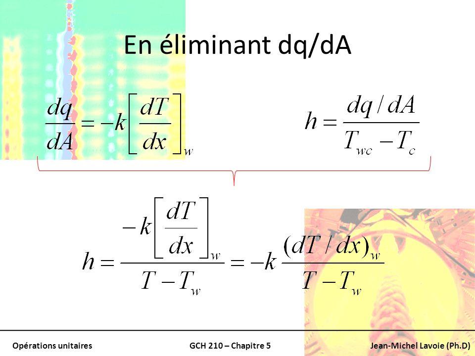 En éliminant dq/dA