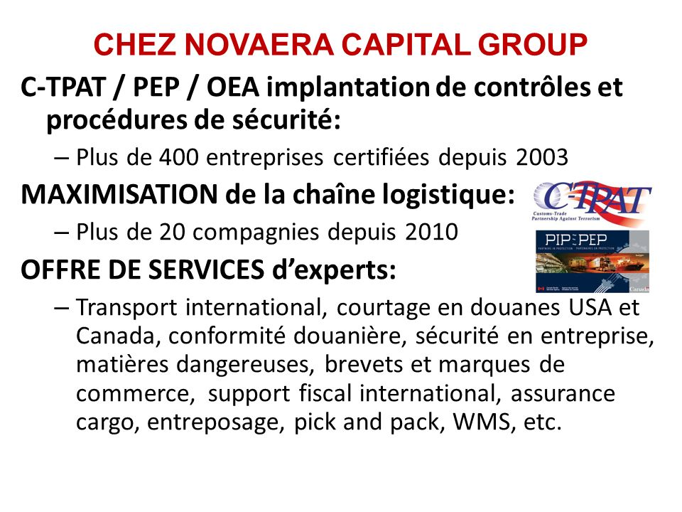 CHEZ NOVAERA CAPITAL GROUP