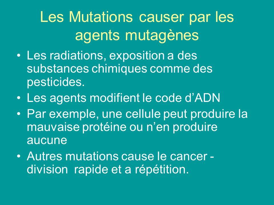 Les Mutations causer par les agents mutagènes