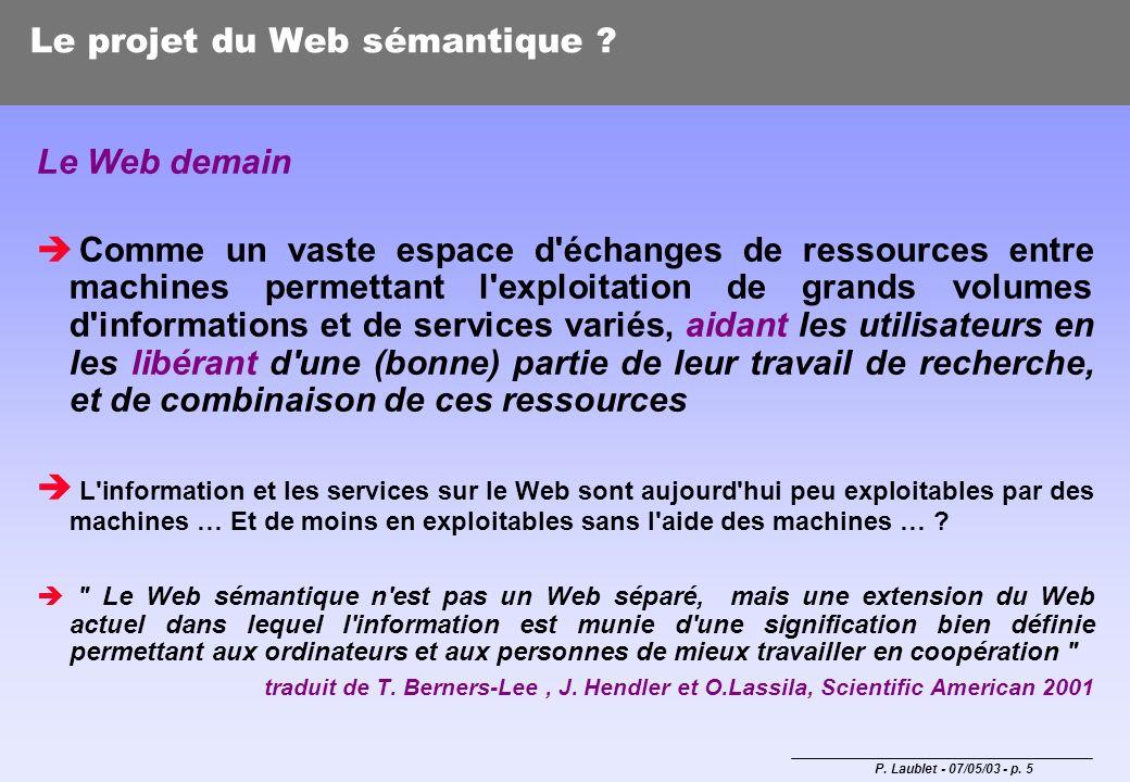 Le projet du Web sémantique