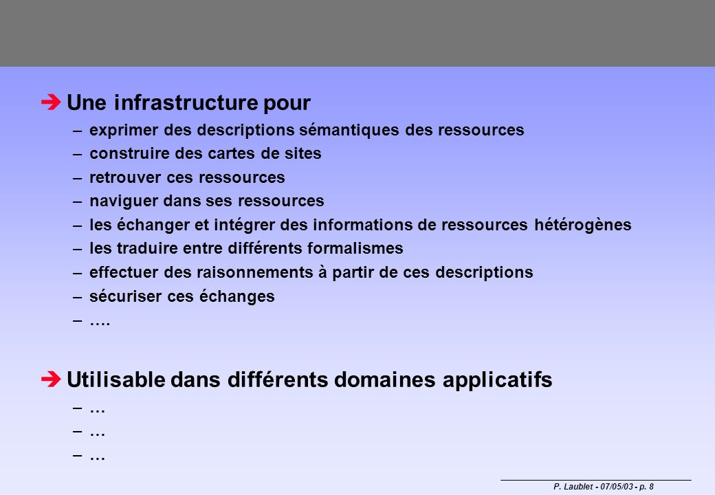 Une infrastructure pour