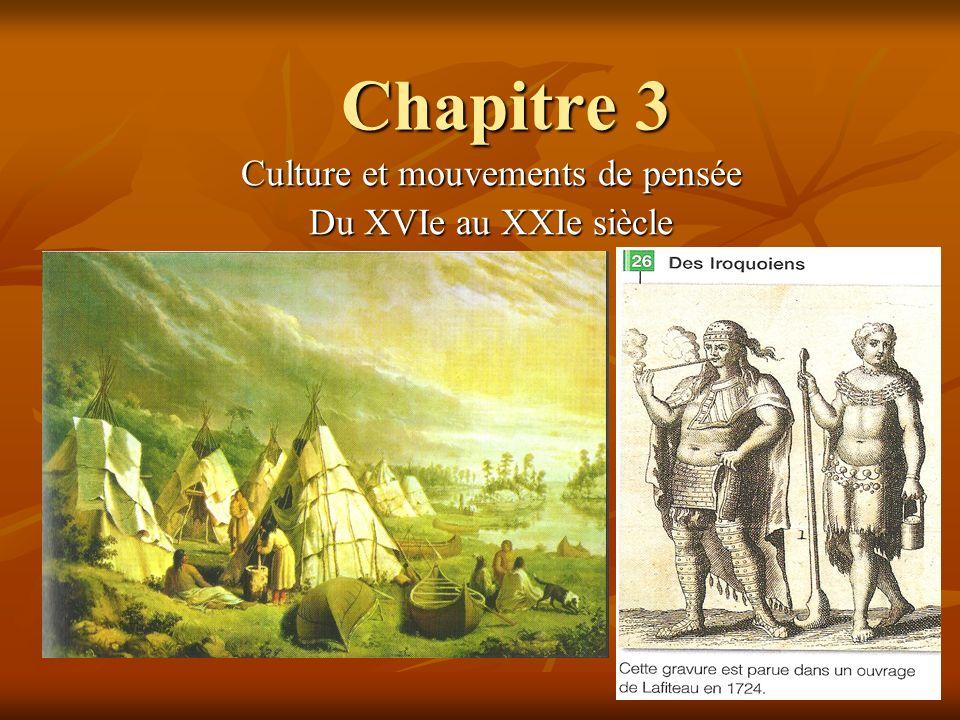 Culture et mouvements de pensée Du XVIe au XXIe siècle