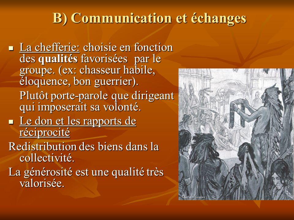 B) Communication et échanges