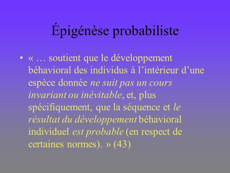 Épigénèse probabiliste