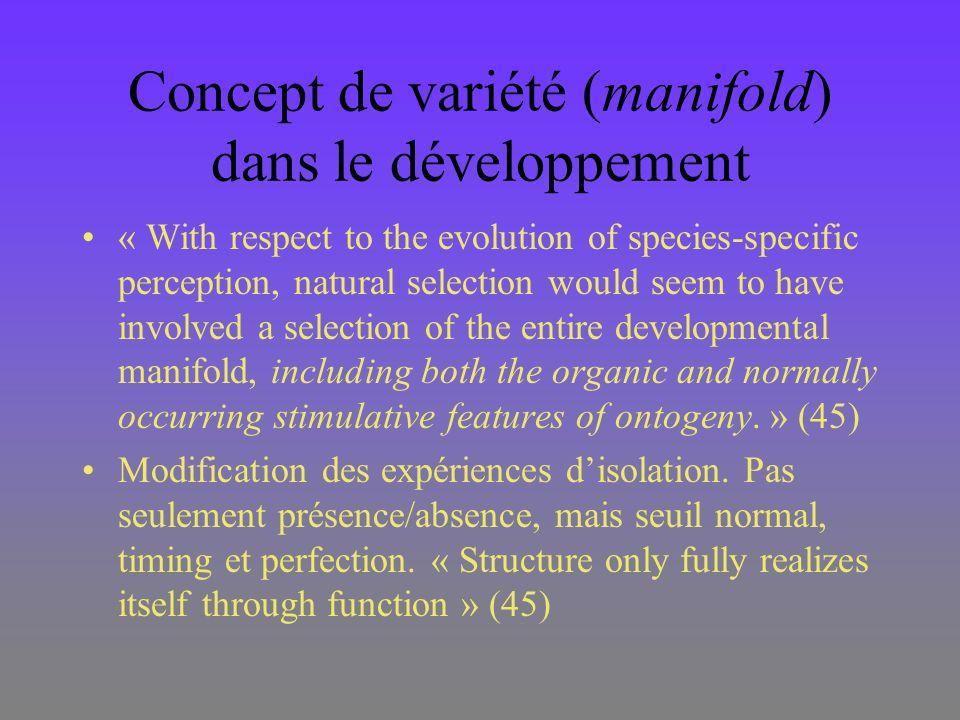 Concept de variété (manifold) dans le développement