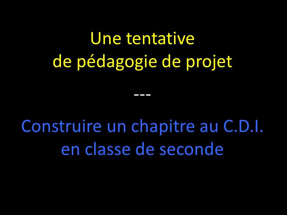 Construire un chapitre au C.D.I.