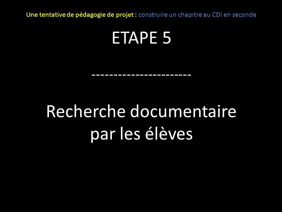 Recherche documentaire par les élèves