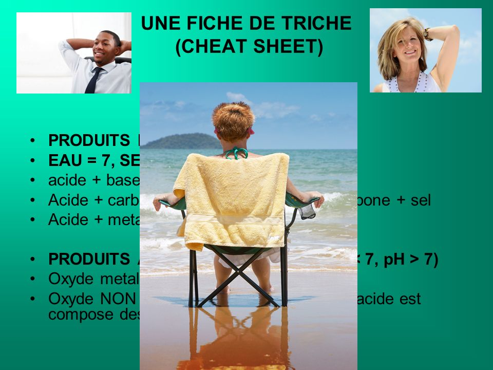 UNE FICHE DE TRICHE (CHEAT SHEET)