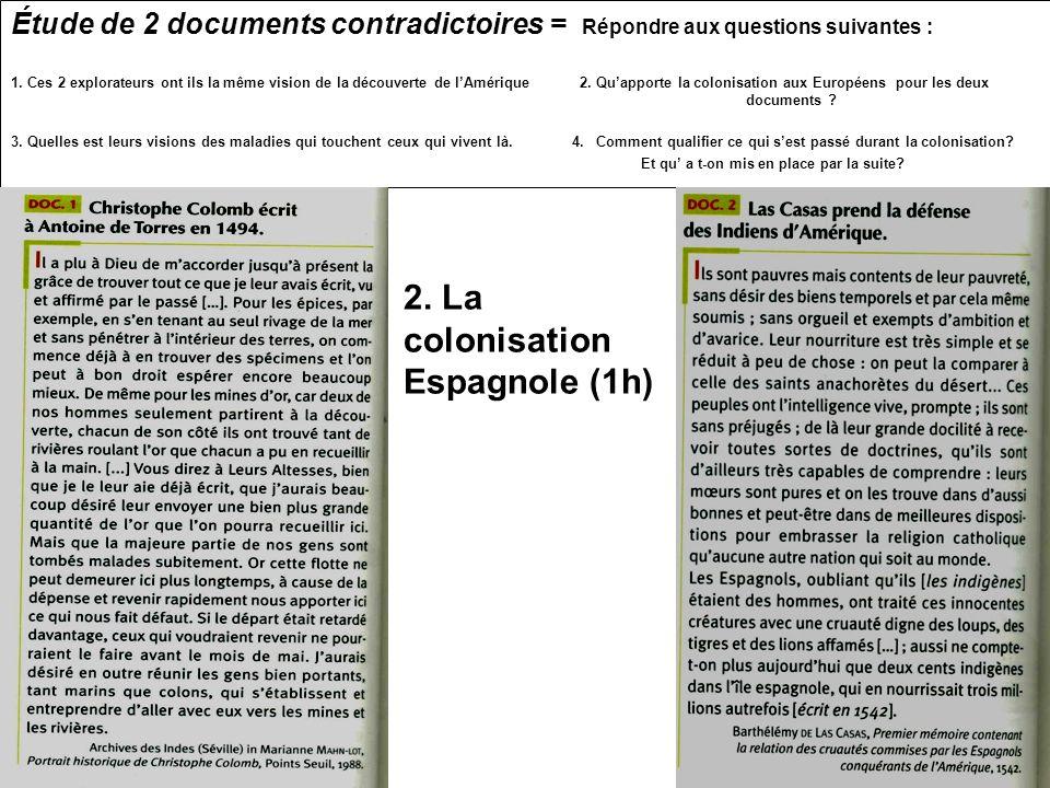 2. La colonisation Espagnole (1h)