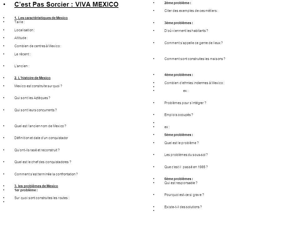 C'est Pas Sorcier : VIVA MEXICO