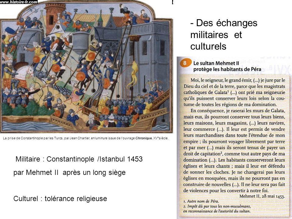- Des échanges militaires et culturels