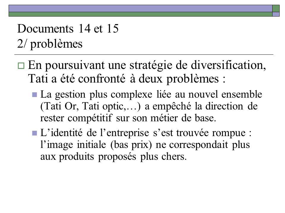 Documents 14 et 15 2/ problèmes