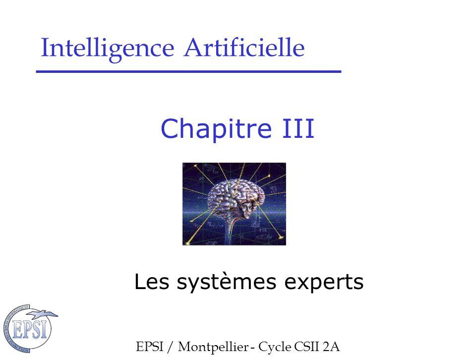 Chapitre III : Les Systèmes experts Les systèmes experts
