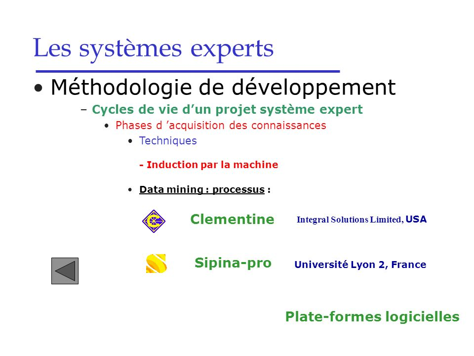 Université Lyon 2, France Plate-formes logicielles
