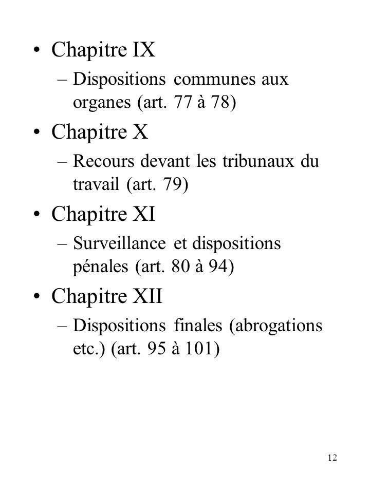 Chapitre IX Chapitre X Chapitre XI Chapitre XII