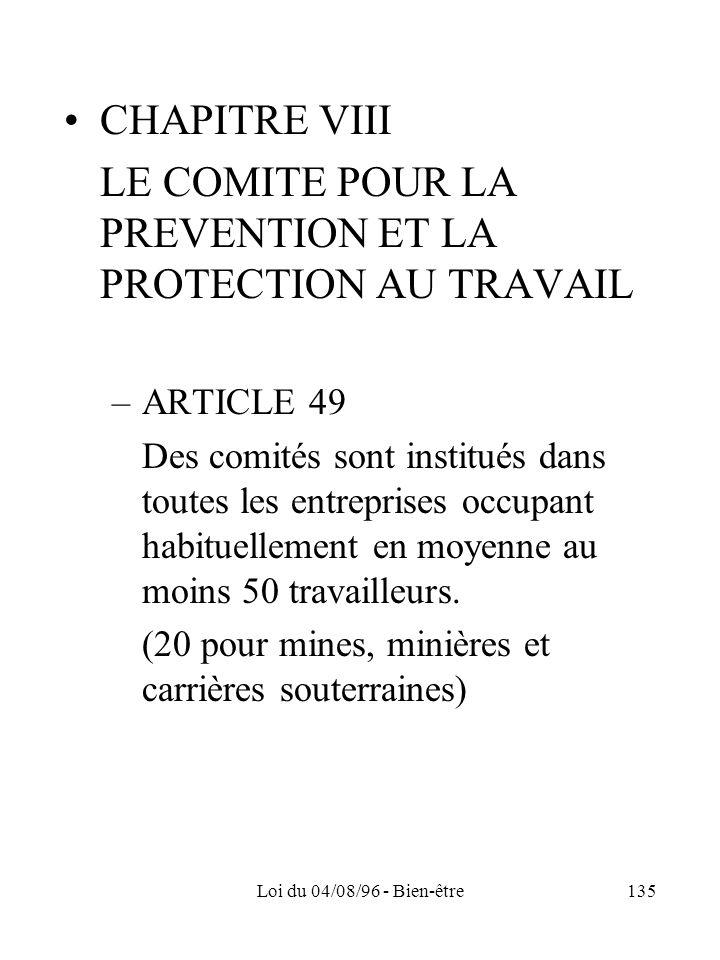 LE COMITE POUR LA PREVENTION ET LA PROTECTION AU TRAVAIL