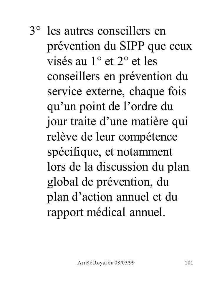 3°. les autres conseillers en. prévention du SIPP que ceux