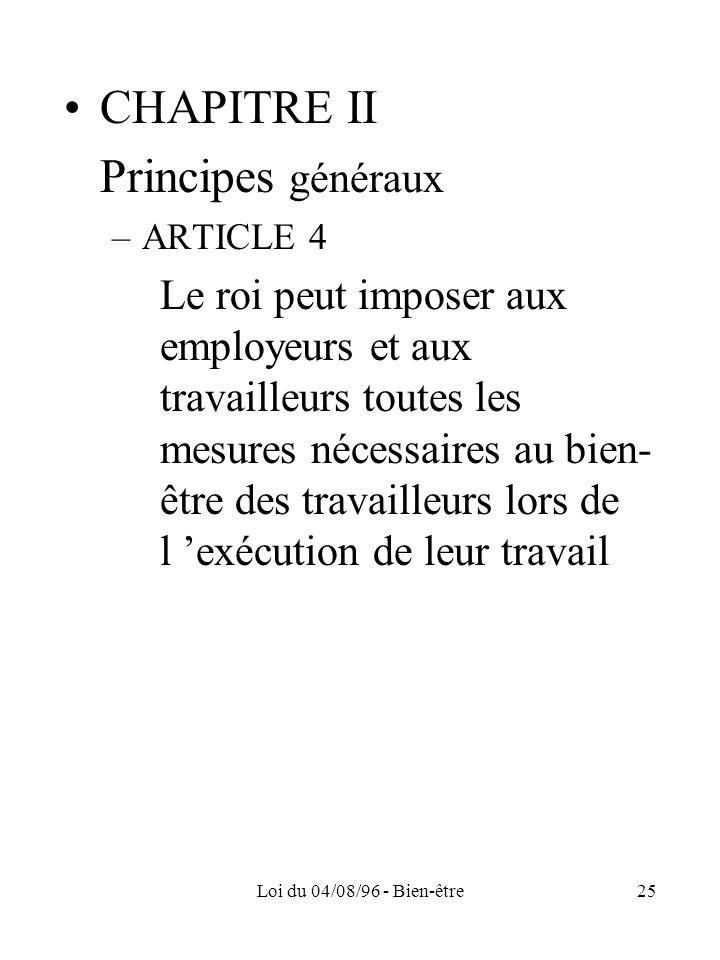 CHAPITRE II Principes généraux