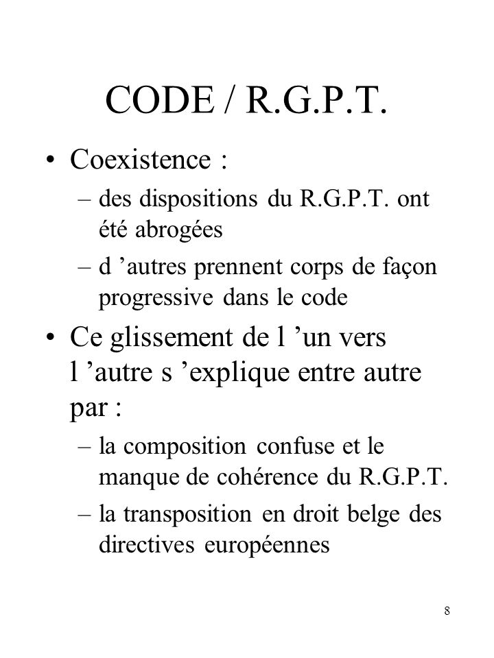 CODE / R.G.P.T. Coexistence :