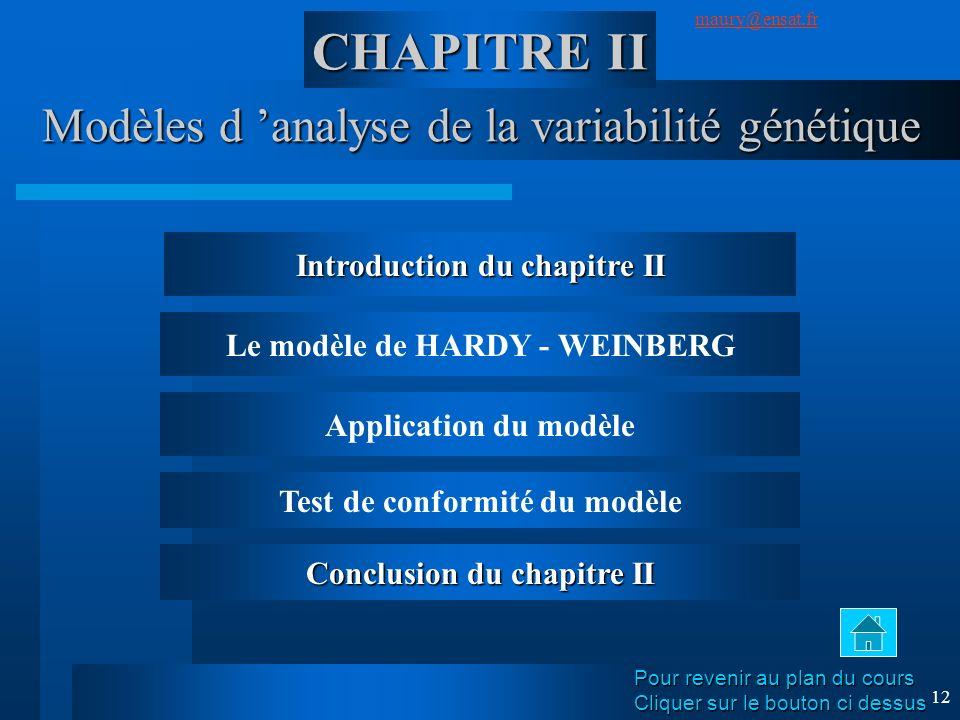 Modèles d 'analyse de la variabilité génétique