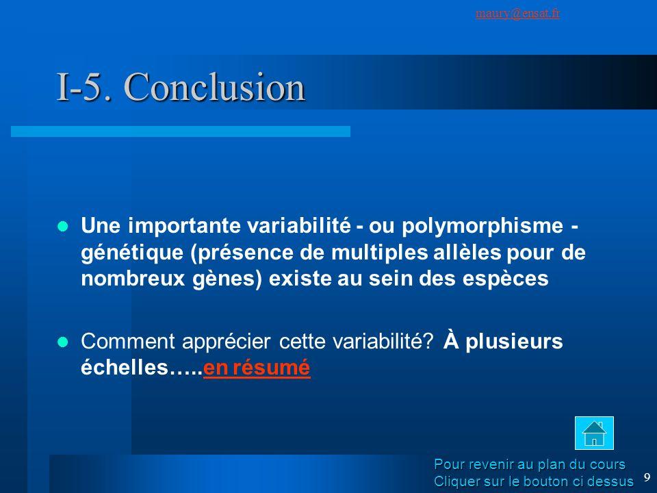 I-5. Conclusion