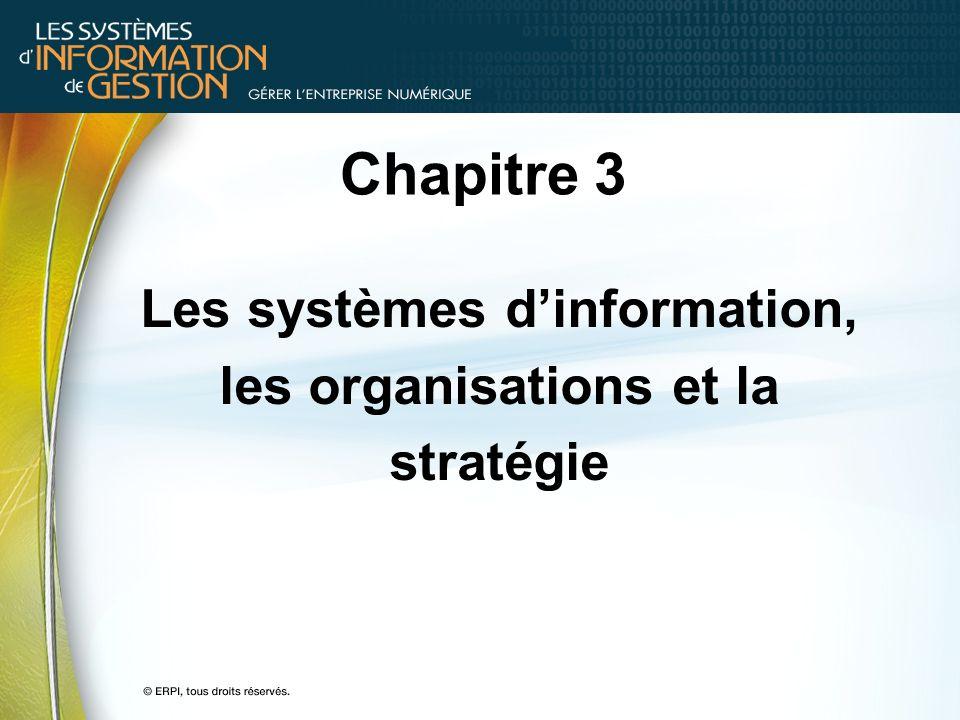 Les systèmes d'information, les organisations et la stratégie