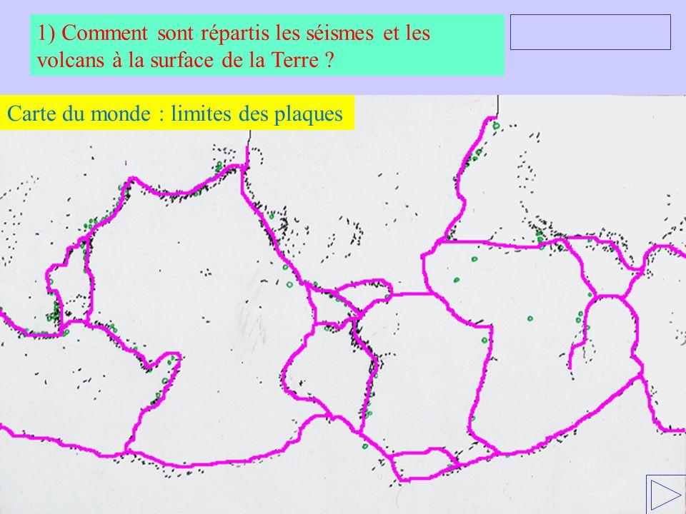 Carte du monde : limites des plaques