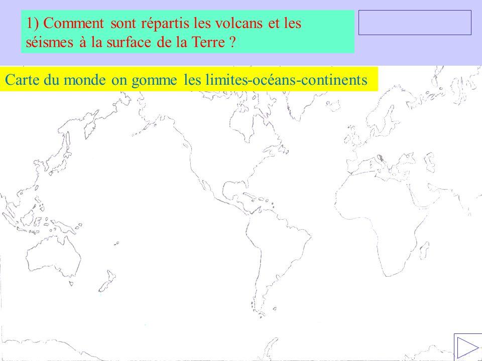 Carte du monde on gomme les limites-océans-continents