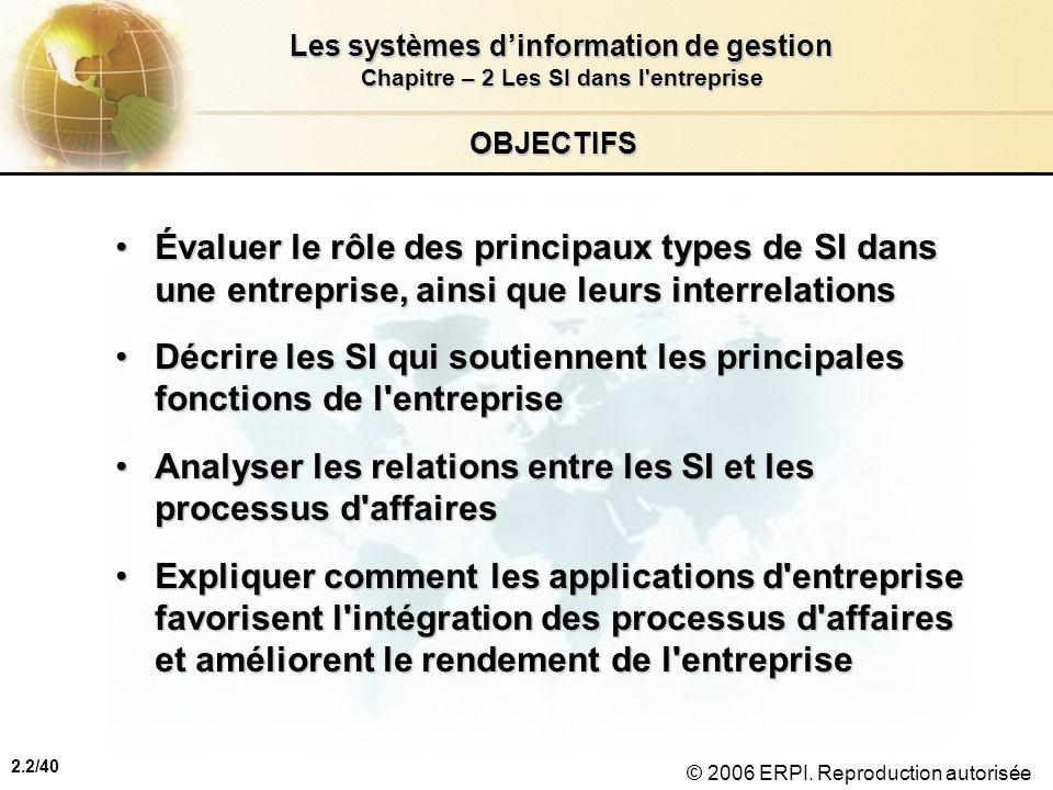 Analyser les relations entre les SI et les processus d affaires
