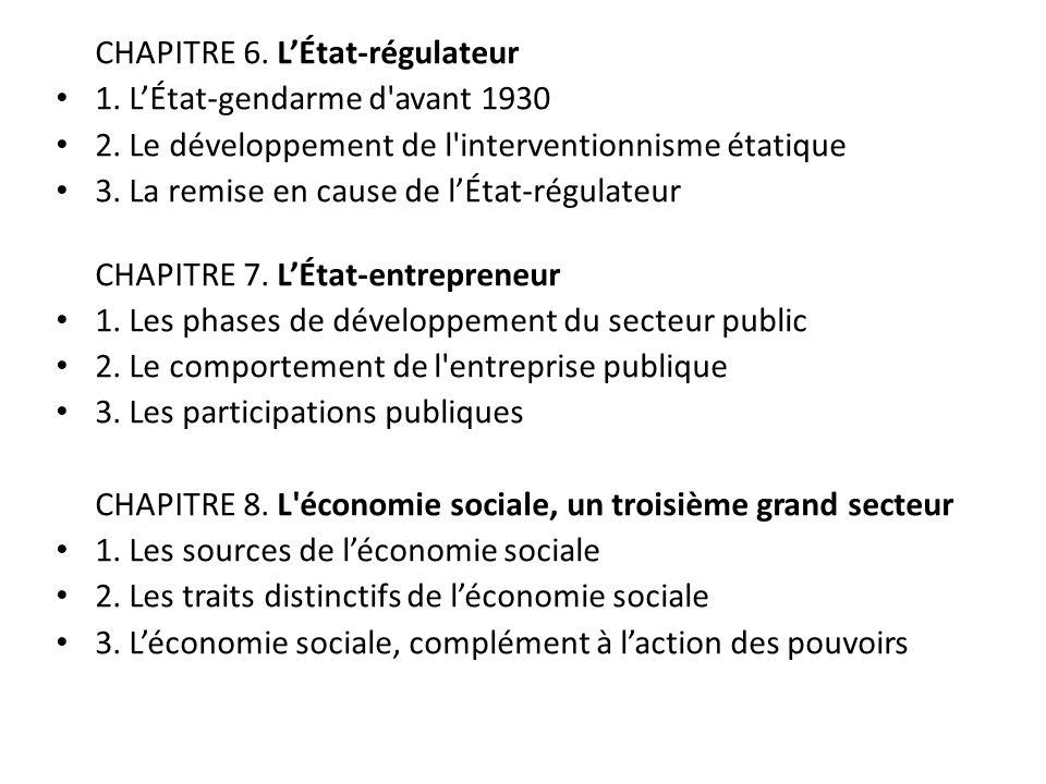 CHAPITRE 6. L'État-régulateur