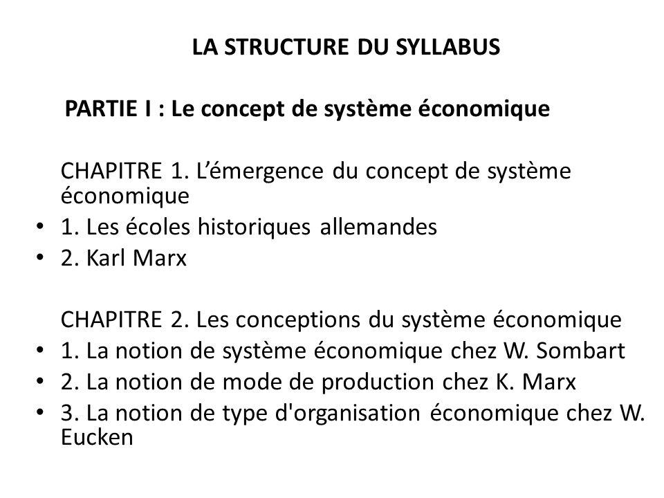 LA STRUCTURE DU SYLLABUS