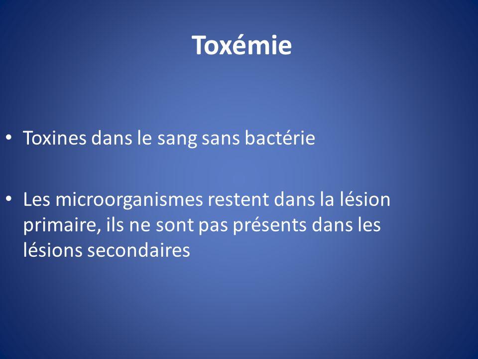 Toxémie Toxines dans le sang sans bactérie