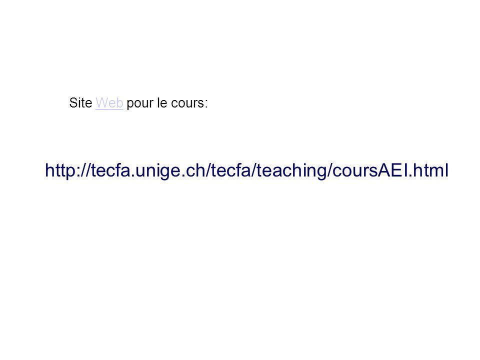 Site Web pour le cours: http://tecfa.unige.ch/tecfa/teaching/coursAEI.html