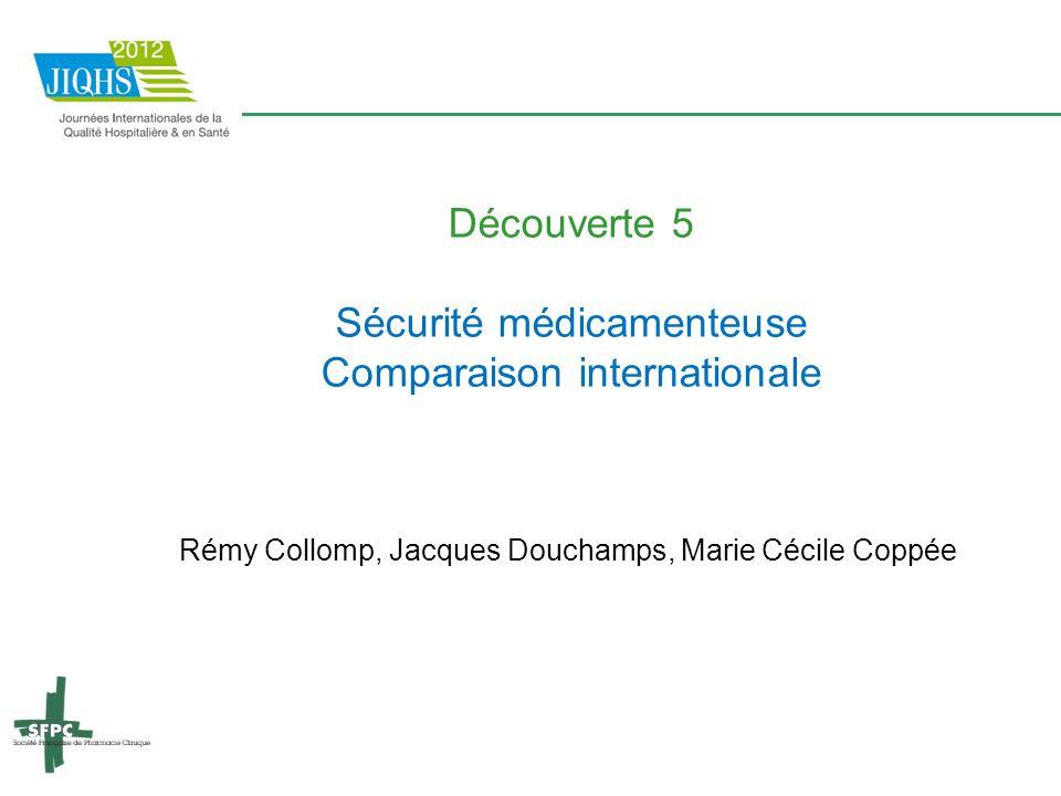 Sécurité médicamenteuse Comparaison internationale