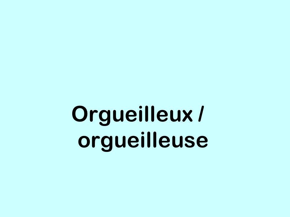 Orgueilleux / orgueilleuse