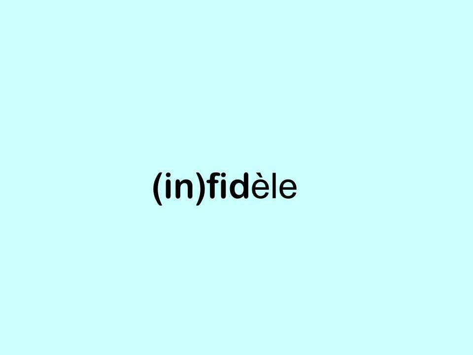 (in)fidèle