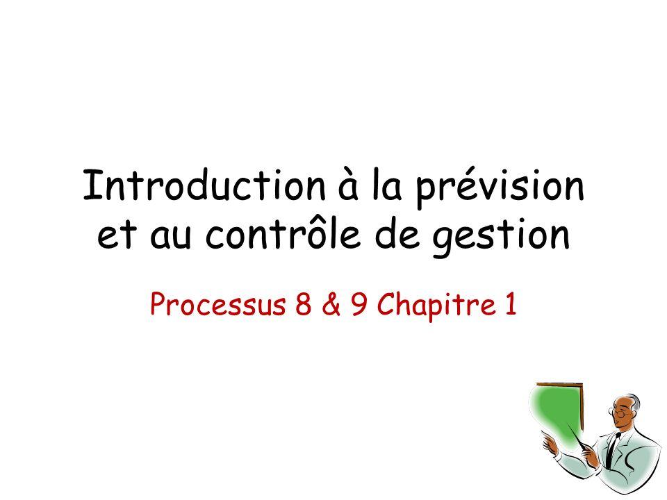 Introduction à la prévision et au contrôle de gestion