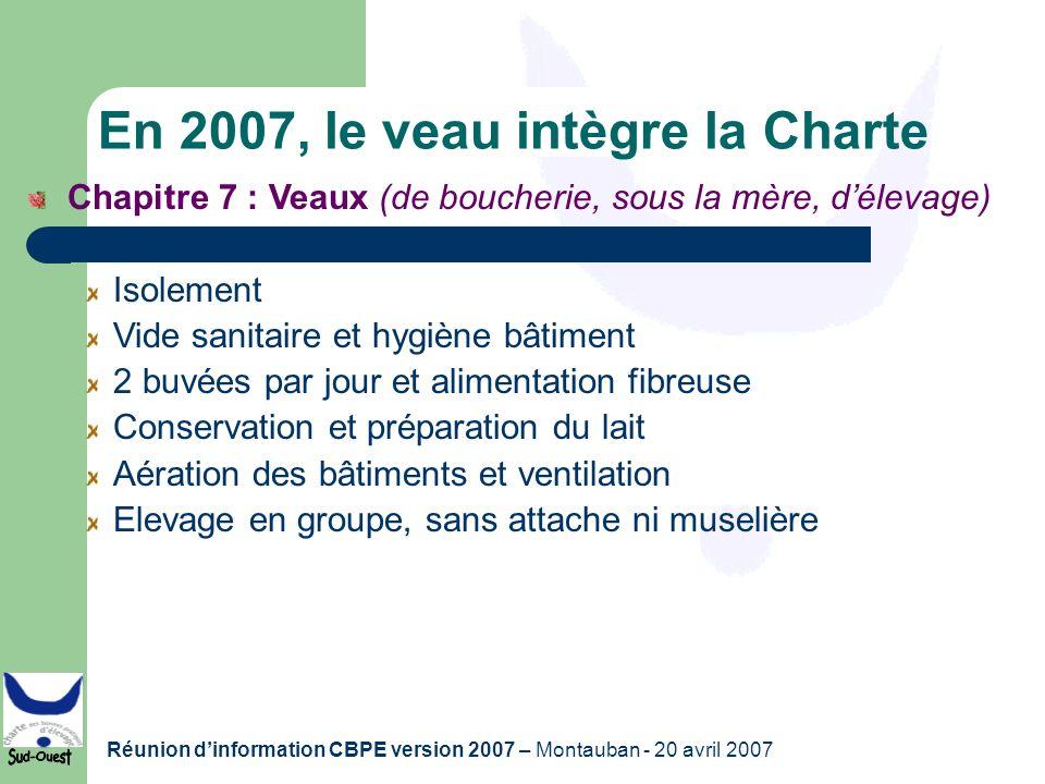 En 2007, le veau intègre la Charte