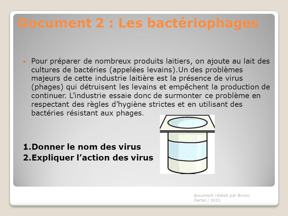Document 2 : Les bactériophages