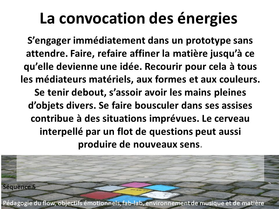La convocation des énergies